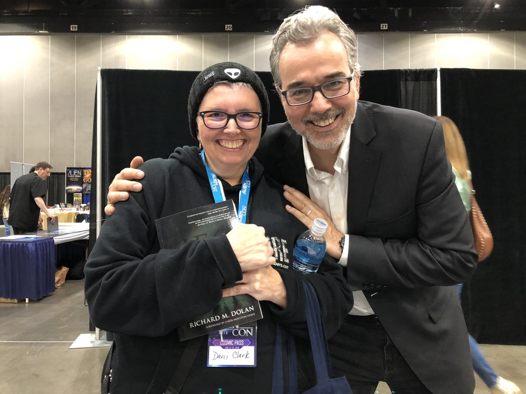 Me and Richard Dolan at Alien Con L.A. June 22, 2019